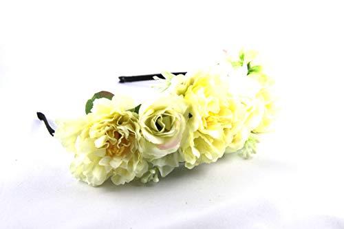 majo luju Damen Haarrreifen Kranz Stirnband Haarband Blumen Tracht Dirndl Wiesn