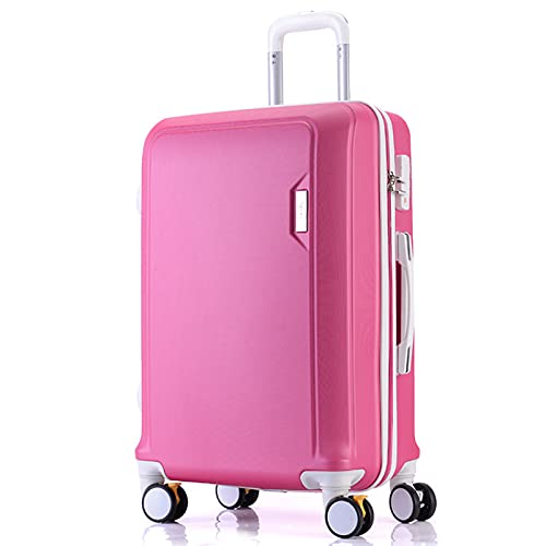 Valigia trolley in materiale ABS nero, rosso, elegante argento, verde menta, elegante blu, viola chiaro, rosa, oro rosa, 20', 22', 24', 26', 26', Rosso (Rosso) - GYTF612551250