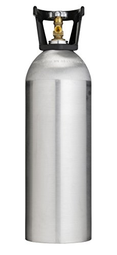 Cyl-Tec 20 lb CO2 Tank - Aluminum Cylinder with CGA320 Valve and Carry Handle