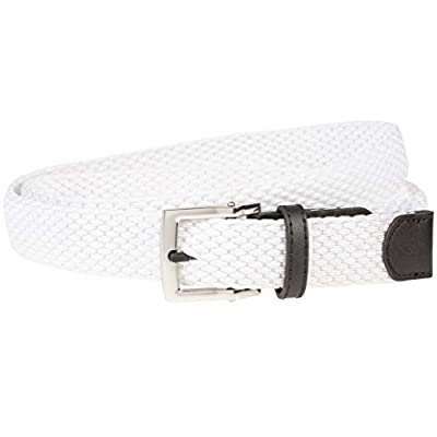 NIKE Women's Stretch Woven Belt, new white, S
