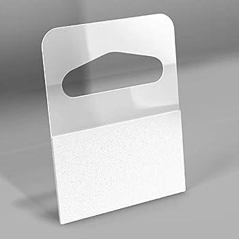 1-1/4  X 1-5/8  Slot Hole Adhesive Hang Tabs - 1000/Pack - Plastic Retail Hang Tags