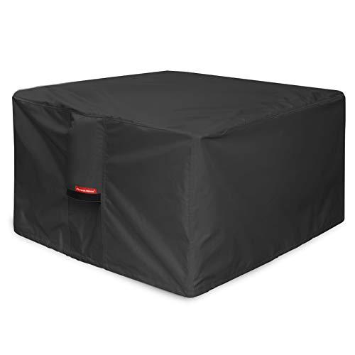 Porch Shield Fire Pit Cover - Waterproof 600D Heavy Duty Square Patio Fire Pit Table Cover Black -...