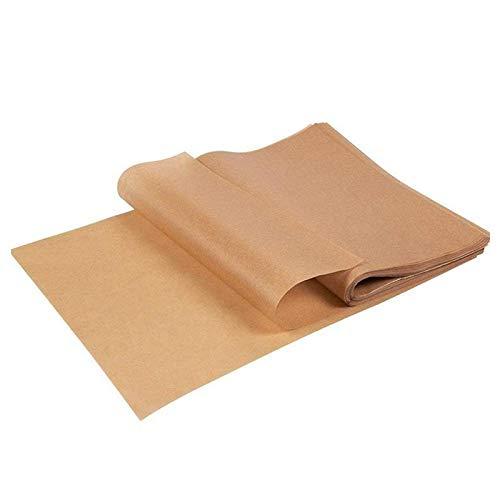 Haudang - 100 unidades de silicona antiadherente para hornear, papel de pergamino rectangular
