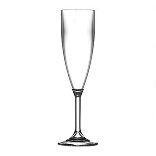 Flûtes à champagne en plastique 6.6oz | Réutiliser 100 de fois - Premium Verrerie Catering Qualité Plastique | Pratiquement incassable | Ensemble de 12