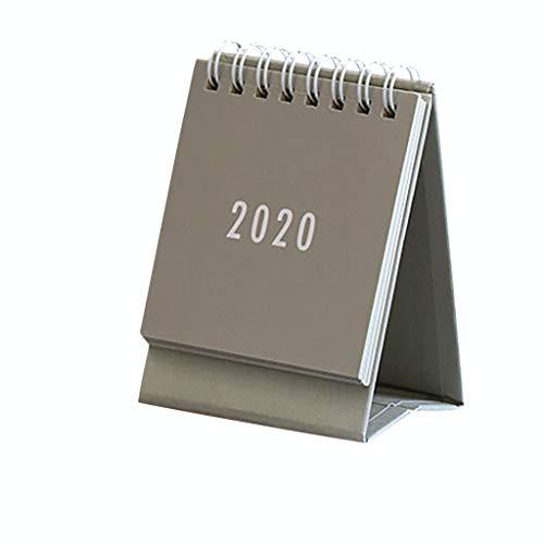 Tischkalender 2020 2,5 x 2,6 Zoll Wochenplaner Terminplaner Stand Up Flip Kalender Organizer Kraftpapier Tischkalender für Zuhause oder Büro (Khaki)