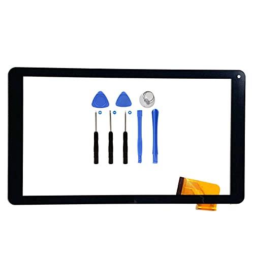 EUTOPING Negro Pantalla táctil digitalizador Sensor de Cristal recambios de Repuesto capacitivos para 10.1 Pulgada WOXTER QX103 QX 103 SX100 con Herramienta