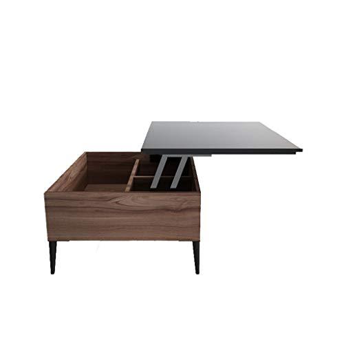 LSX - salontafel salontafel, eettafel voor tweeërlei gebruik Woonkamer Klein Appartement Eenvoudig Creatief Zelfstandig Multifunctioneel Noords Stijl Vierkant Opklapbare Lift Koffietafel. bijzettafel