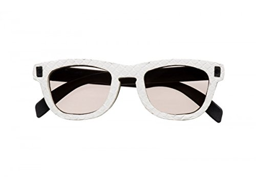 VANDALO Occhiali da sole Pitone (Bianco)