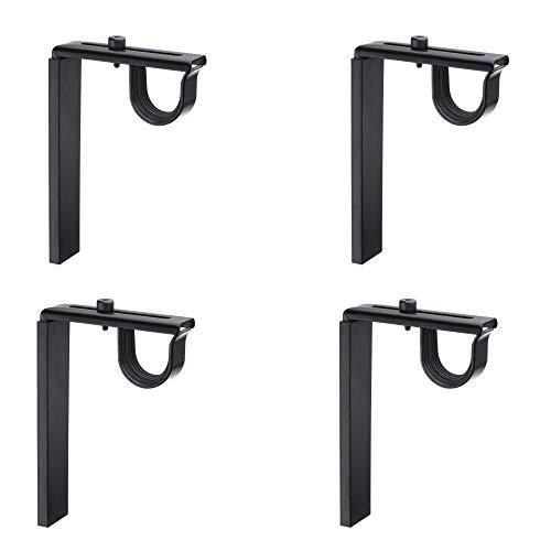 IKEA Betydlig - Soportes para barra de cortina de pared o techo, acero ajustable