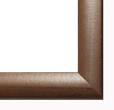 Homedecoration Cornice Colorado 70 x 50 cm MDF con Vetro plastico 50 x 70 cm, Colore selezionato: Noce Scuro