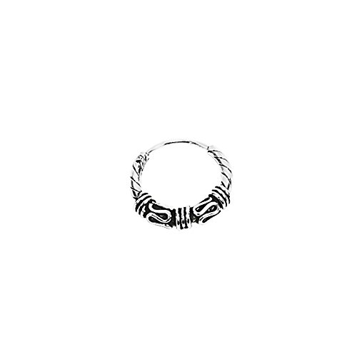 NKlaus Silber Einzel 925er Sterlingsilber Keltische Bali Ohrring Creole 20mm 6970
