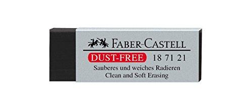 Faber-Castell 187121–Goma de borrar sin polvo, plástico, negro
