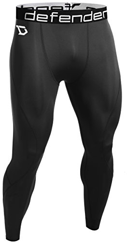 Defender Mens Compression Baselayer Pants Legging Shorts Tights Baseball BB_M