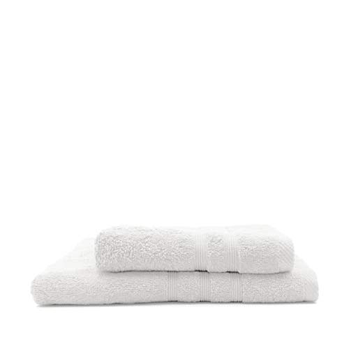 TODAY Lot de 1 Serviette de Bain 50 x 100 cm + 1 Drap de Bain 70 x 130 cm Chantilly - 100% Coton