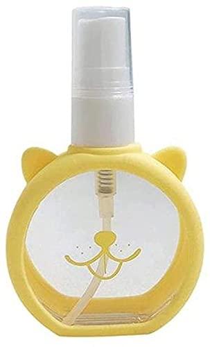 Ghlevo Botellas de pulverización vacías 1.85oz / 55ml - Botella de Viaje Mini de plástico de Niebla Fina, envases de líquidos Recargables para Limpieza de Viajes Perfume cosmético (Color : Yellow)