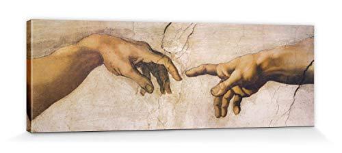 1art1 60426 Michelangelo Buonarroti - Die Erschaffung Adams, Detail, 1508-1512 Poster Leinwandbild...