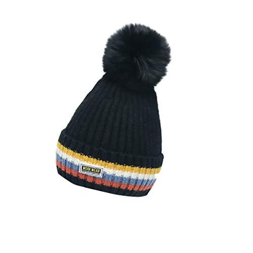 RoMantic sports Enfants Chapeau d'hiver Chaud Polaire Doublé Pompon Chapeaux Bébé Bonnet Bonnet pour Filles Garçons Tout-Petits Chapeaux pour garçons