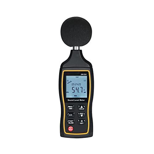 YUTRD ZCJUX Medidor de Nivel de Sonido Medidor de decibelios Medidor de Ruido Medidor de Ruido con Pantalla de Tiempo y función de Advertencia