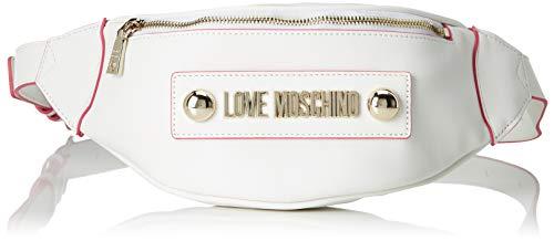 Love Moschino Damen Borsa Soft Grain Pu Kuriertasche, Weiß (Bianco), 7x13x22 Centimeters
