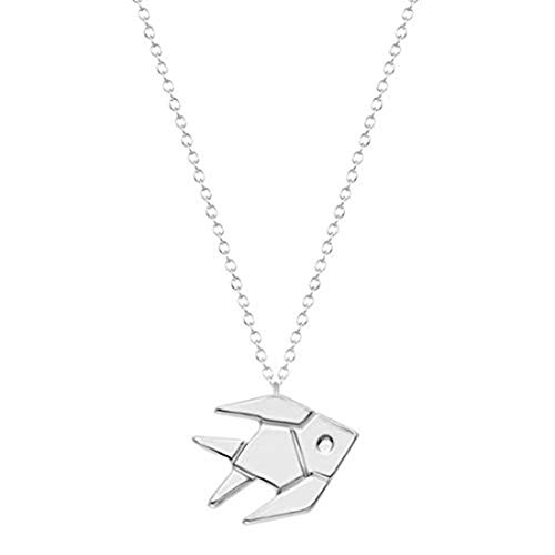 yichahu Collar de pez tropical de origami, diseño de pez dorado.
