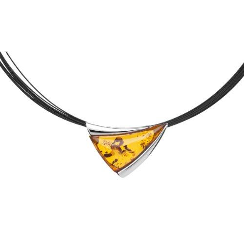 InCollections 11203543100 - Catenina con pendente da donna con ambra, argento sterling 925, 450 mm