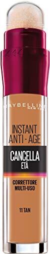Maybelline New York Il Cancella Età Correttore Liquido con Bacche di Goji e Haloxyl, Copre Occhiaie e Piccole Rughe, Confezione Singola, 11 Tan