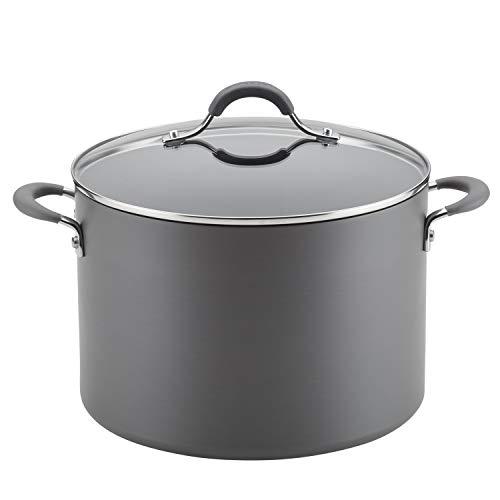 target stock pots Circulon Radiance Hard Anodized Nonstick Stock Pot/Stockpot with Lid - 10 Quart, Gray