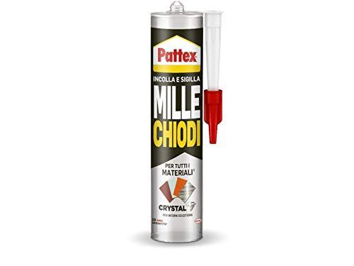 Pattex Mille clavos Crystal - Adhesivo sellador óptimo para cristales y espejos,...