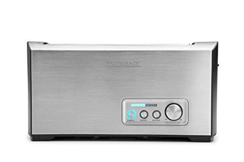 Gastroback 42398 Design Toaster Pro 4S, 4-Scheiben, intergrierter Brötchenaufsatz, 9 Bräunungsstufen, LED-Countdown-Anzeige,1.500 Watt, Edelstahl matt gebürstet