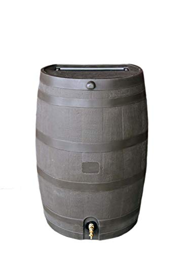 RTS Home Accents 50-Gallon Rain Water Collection Barrel with Brass