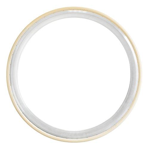 Tannus 700 x 23C Vollgummireifen Slicks Fixie Singlespeed Reifen Rennrad, Farbe:beige