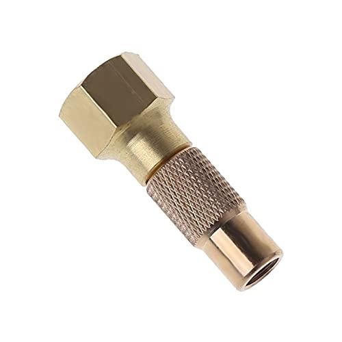 LIUWEI Tornillo de seguridad de aire del neumático Tornillo de servicio pesado en el chuck de aire del neumático Ajuste para el indicador del inflador del neumático Accesorios del compresor de compres