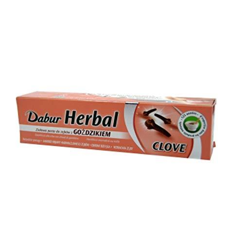 2x Dabur Herbal Toothpaste Clove 100ml Zahnpasta mit Nelken - Ayurvedische Beauty Produkte