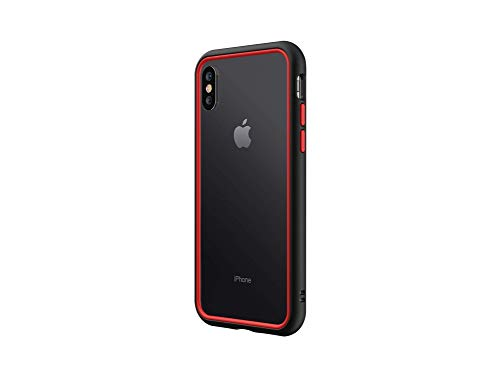 RhinoShield Coque Compatible avec [iPhone XS/X] | CrashGuard NX - Protection Fine Personnalisable avec Technologie Absorption des Chocs [sans BPA] + [Programme de Remplacement] - Combo Noir/Rouge