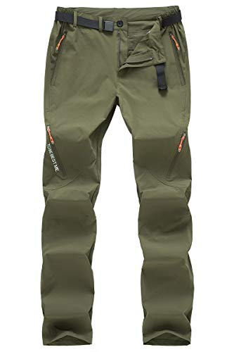 Postropaky Mens Hiking Quick Dry Lightweight Stretch Fishing Pants Outdoor Travel Climbing Trousers(Green32x32)