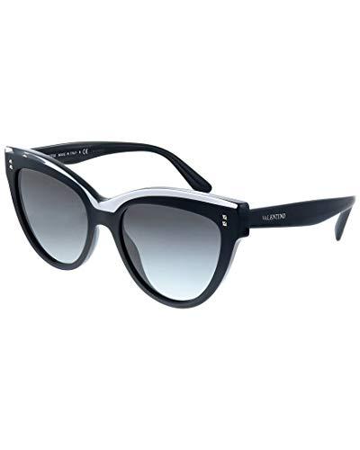 Valentino gafa de sol mujer negro brillo/rystal VA4034 gradient grey 5131/11 acetato