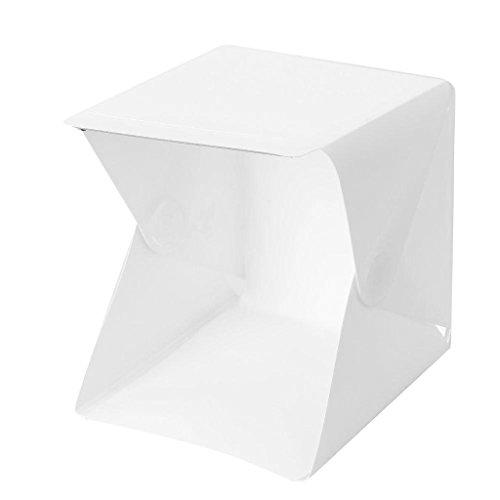 Baoblaze Tragbare Leuchtkasten Mini Softbox LED Foto Studio Klapplicht Box Zimmer Fotografie Hintergrund Licht Box Softbox Zelt Kit