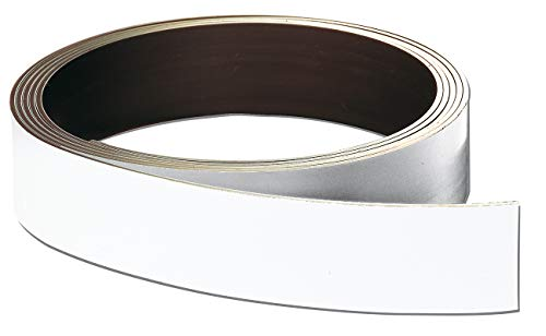 Franken LS15 Lagerschilder-Rollenware (magnetisch, Höhe 15 mm, Stärke 0,8 mm, 10 m) weiß