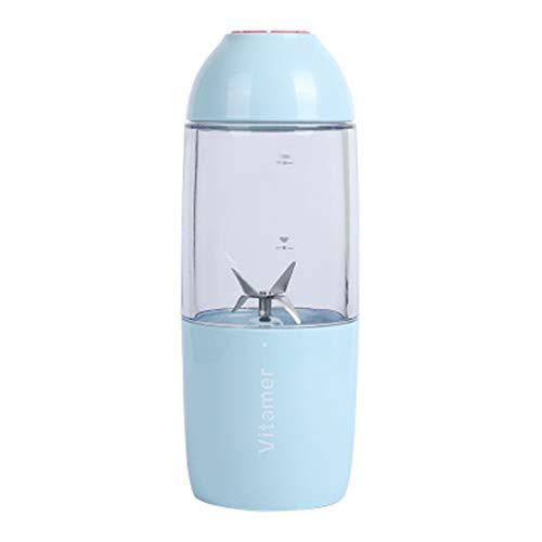Licuadora Personal [versión actualizada], Vaso exprimidor portátil/Mezclador de Frutas eléctrico/batidora de Zumo USB, recargable400 ml,C