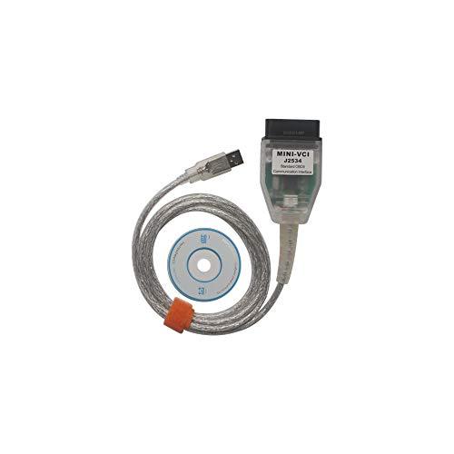 Mini VCI J2534 TIS techstream Diagnostic Cable, OBD2 Scann...