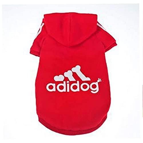 Abbigliamento Con Cappuccio Pet Giacca Per Cani Moda Doggie Maglione Con Cappuccio Calda Pet Pet Outfit Inverno Forniture Per Animali Invernali 7xl Rosso