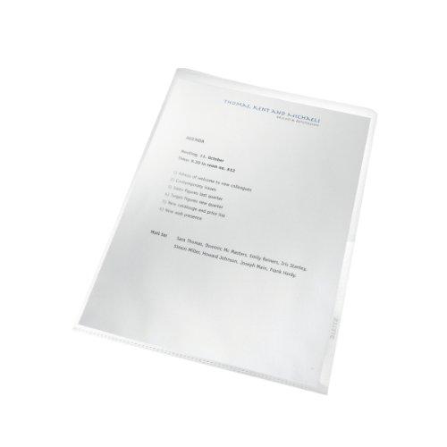 Leitz Sichthülle (Recycel, A4, PP, genarbt, dokumentenecht) 25 Stück farblos