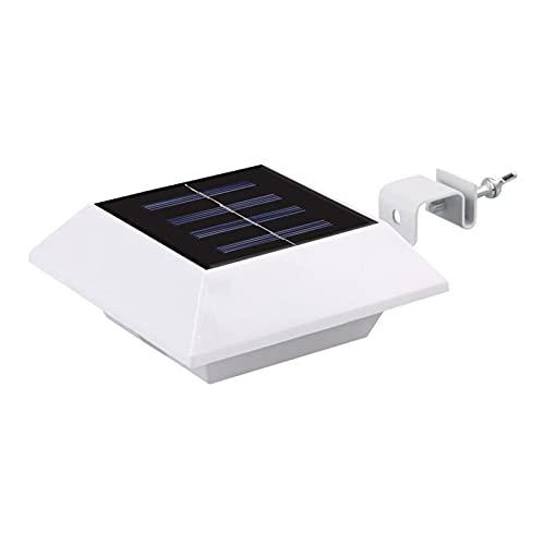 Luces de valla cuadrada solar, lámpara de pared Solar 6 LED para Corredor Deck Garden Terrace Road Warm light