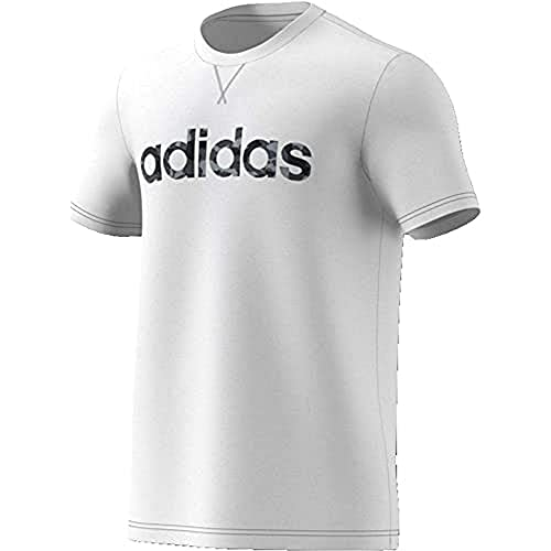 adidas E Camo Lin tee Camiseta de Manga Corta, Hombre, White, M