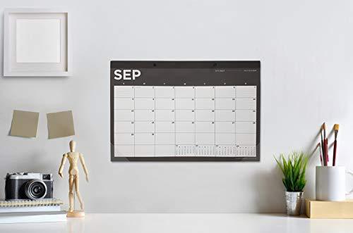 "MINAMORATA Large Desk Calendar 2020, Black, White, 20""x14"", Wall Calendar 2020, Desk Calandar for Office Desk and Table Decor, Desk Pad, Table Mat, Academic Year to Do List"