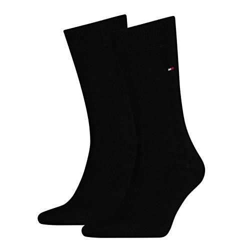 Tommy Hilfiger Lot de 4paires de chaussettes classiques pour homme - Noir - 43/46