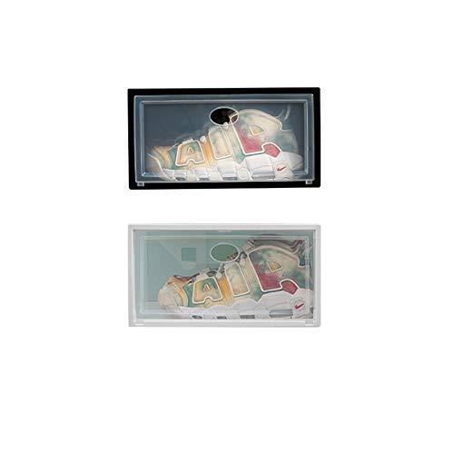 MHIBAX Caja De Almacenamiento De Caja De Zapatos Tipo De Cajón Transparente Zapatos De Dormitorio Plástico Engrosado Que Ahorra Espacio Zapatero Zapatero 33x24.5x17.5cm Paquetes negros-12