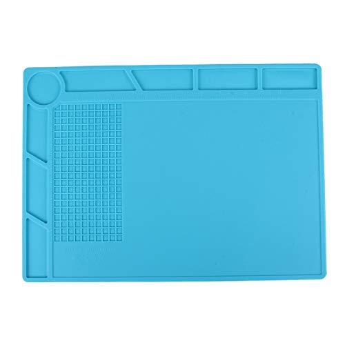 YAOLANP Telefon Reparatur-Werkzeug für Wartungsplattform Hochtemperatur-hitzebeständige Reparatur Isoliermatte Silikonmatten mit Schraubenposition, Größe: 35 cm x 25 cm (Schwarz) (Farbe : Blue)