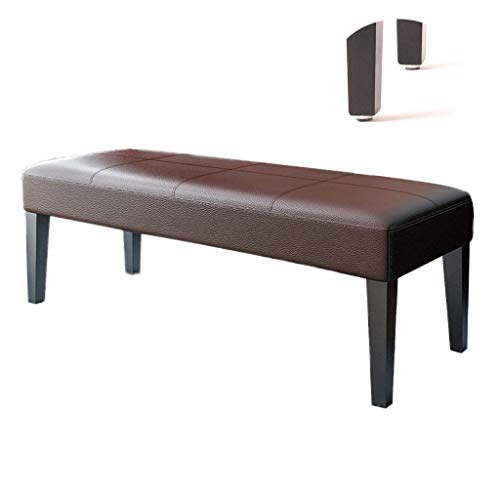 Wood Footstool Storage Bench Cabinet Shoe Seat PU Upholstered Bench Pouffe Chair for Hallway Entryway Living Room Bedroom Bed end Stool 100X40X40CM (Color : Brown)