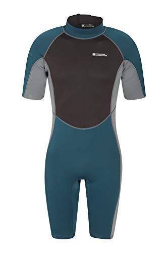 Mountain Warehouse Shorty Herren-Tauchanzug in voller Länge - Körper: 2.5mm, bequemer, einteiliger Neopren-Surfanzug, leicht schließender Reißverschluss - für Tauchen Petrolblau Medium/Large